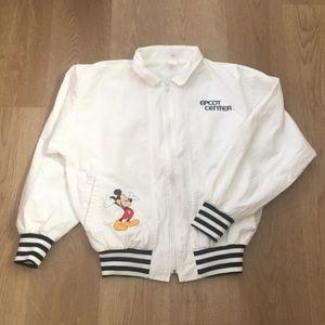 Vtg Disney Epcot Center Made USA Short Jacket, L